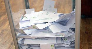 Урна для голосования на промежуточных выборах в муниципальные собрания в Грузии. Фото: https://www.facebook.com/CentralElectionCommissionOfGeorgia