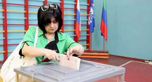 На одном из избирательных участков Дагестана. 22 мая 2016 г. Фото http://www.riadagestan.ru/