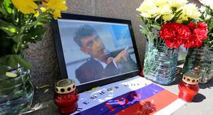 Мемориал Бориса Немцова на Большом Москворецком мосту. Фото: Ivan Trfilov (RFE/RL)