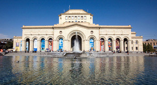 «Поющие фонтаны» на Площади Республики. Ереван. Фото: EvgenyGenkin https://ru.wikipedia.org/