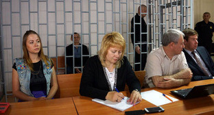 На судебном процессе по делу Николая Карпюка и Станислава Клыха в Грозном. 17 мая 2016 г. Фото: Anton Naumlyuk (RFE/RL)