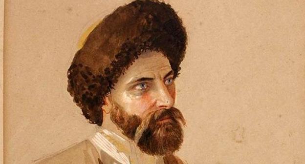 Сефер-бей Зан. Автор Miner Kilbourne Kellogg (1814-1889). Фото https://ru.wikipedia.org/