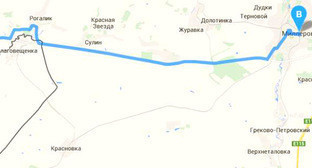 Карта автодороги в обход Украины. Фото http://www.donnews.ru/