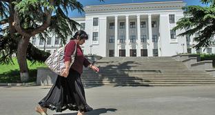 Здание парламента Южной Осетии в Цхинвале. Фото: Sputnik/Михаил Мокрушин