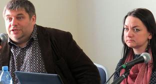 Денис Соколов и Ирина Костерина. Фото: Vera Vasilieva (RFE/RL)